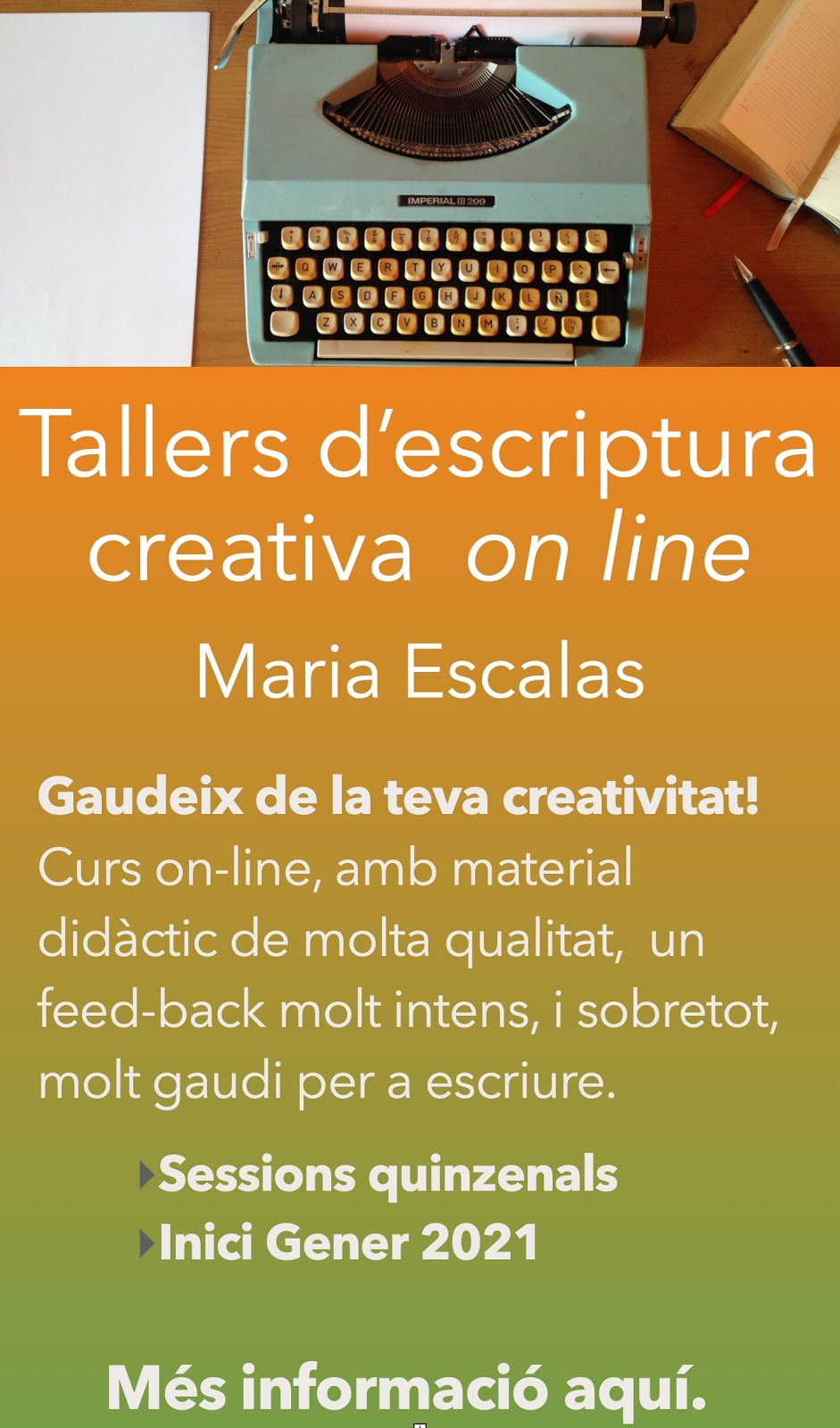 Tallers d'escriptura creativa on-line