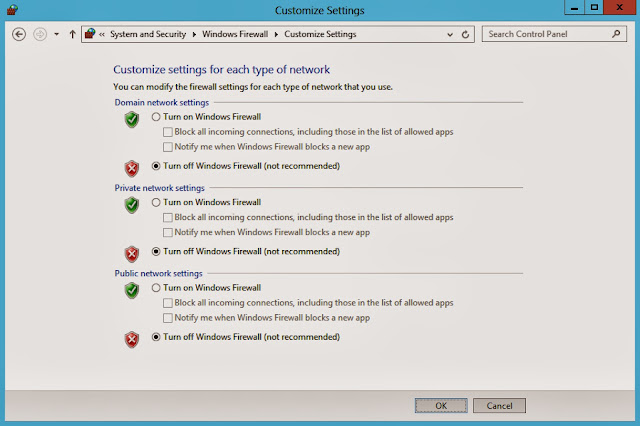 windows firewall status