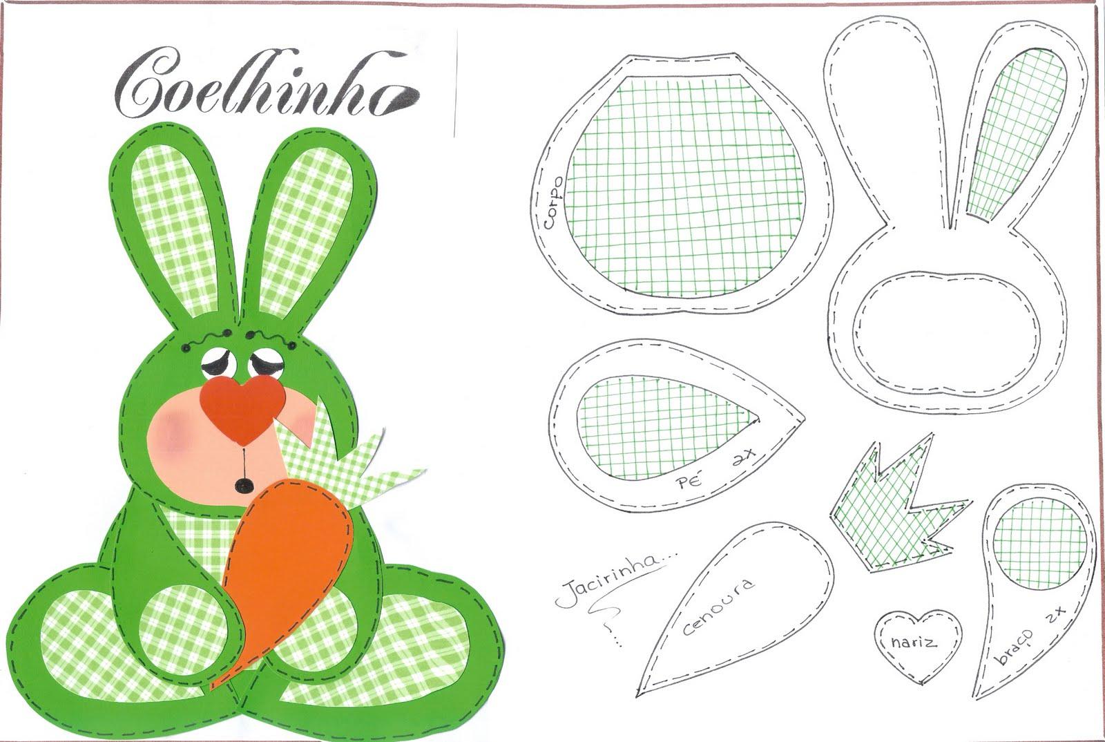 Moldes de coelhos para eva - moldes de coelhos para lembranças de