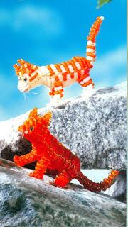 Животные из бисера объемные кошечка