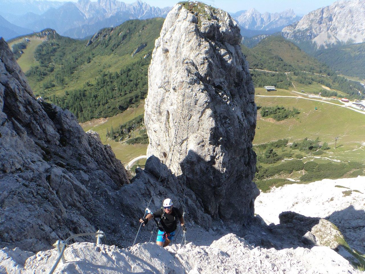 Klettersteig Däumling : Aufdiebergbinigern: däumling klettersteig auf den gartnerkofel