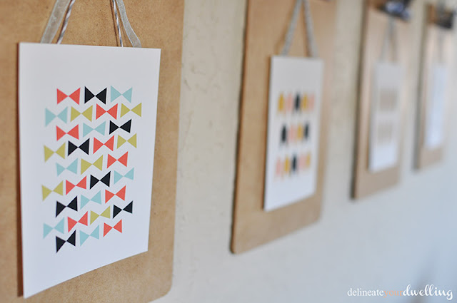 Spring Clipboard Gallery Wall   Delineate Your Dwelling