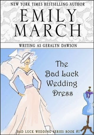 http://www.goodreads.com/book/show/17979949-the-bad-luck-wedding-dress