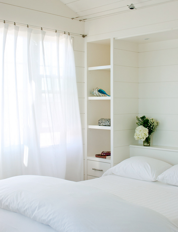 calm bedroom // paint color: Benjamin Moore Ivory White