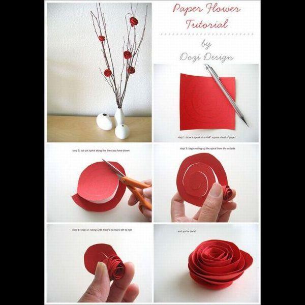 Cómo hacer una flor de papel, origami - YouTube