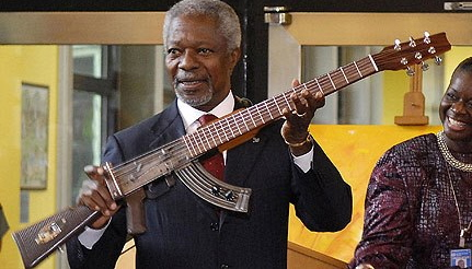 Kalashnikov assault rifle Guitar