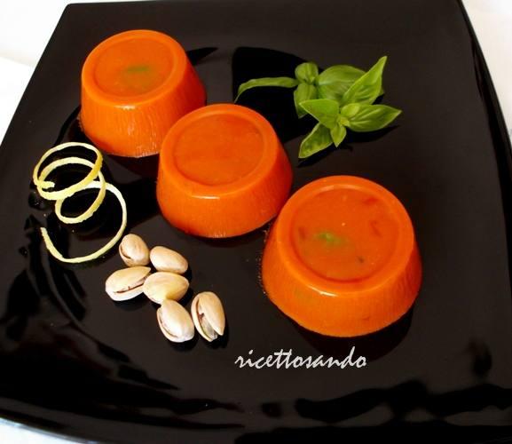 Gelèe di pomodoro ricetta antipasto
