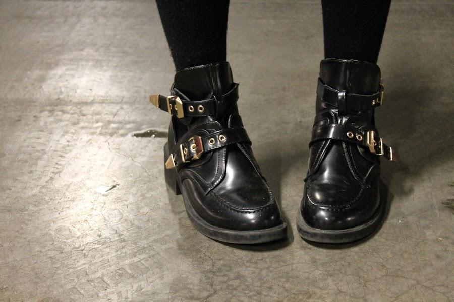 botines negros