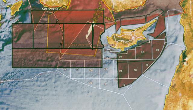 Νότια του Καστελόριζου έδωσε άδειες ερευνών για πετρέλαιο-φυσικό αέριο η Άγκυρα