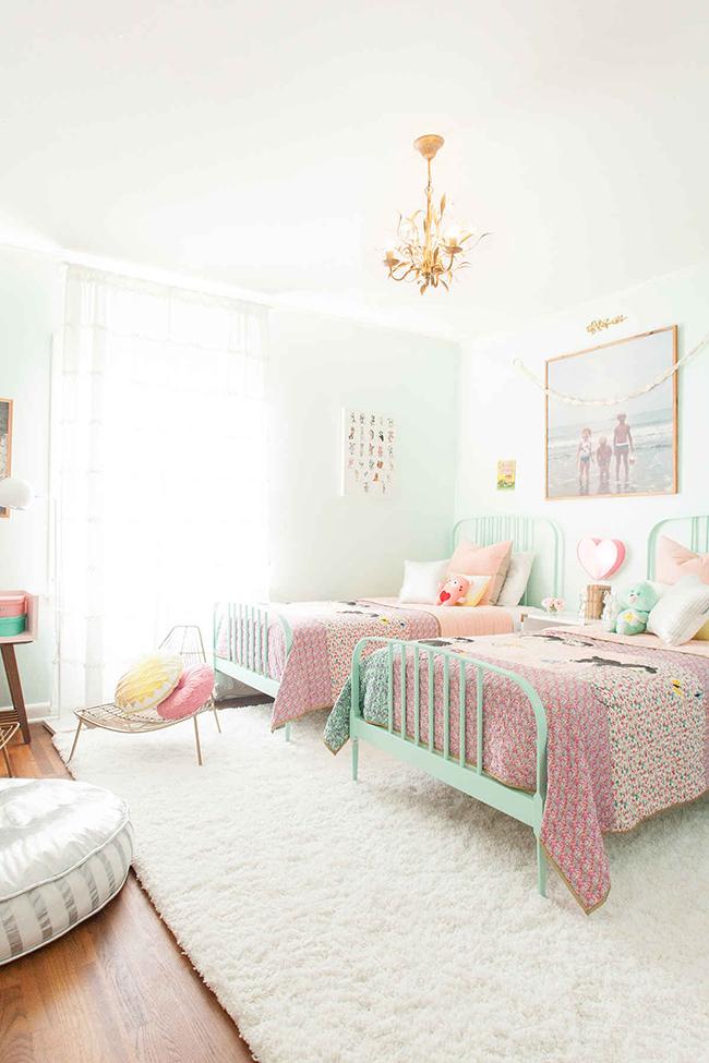 Como decorar y organizar el dormitorio compartido de 2 - Habitacion dos ninas ...