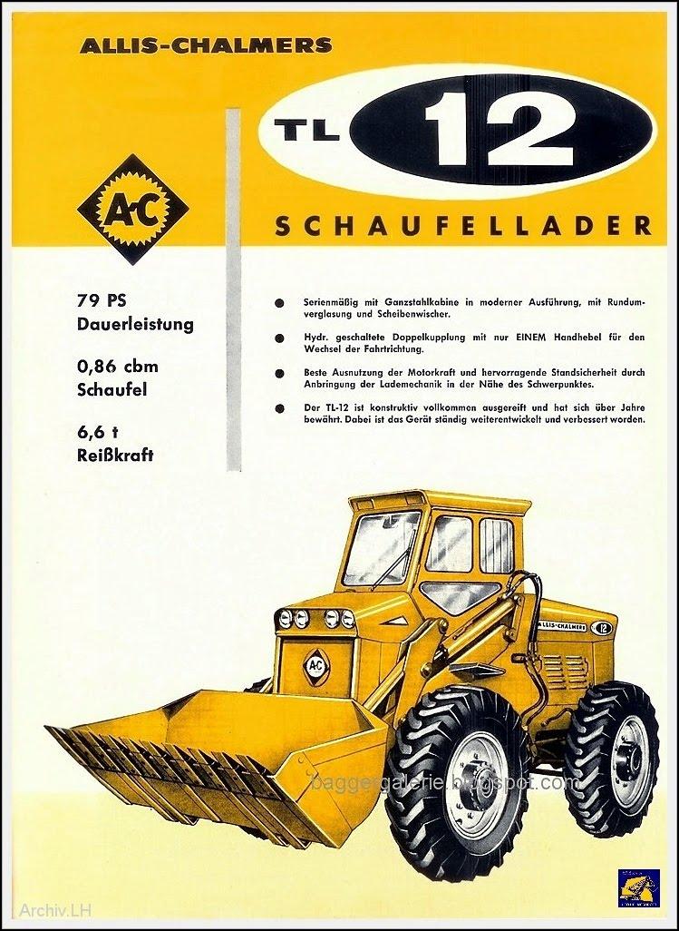 Baumaschinen Prospekte: Allis Chalmers Radlader