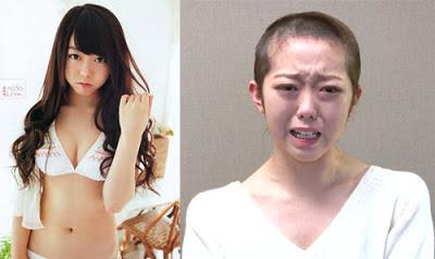 Sao Nhật cạo trọc đầu vì qua đêm nhà bạn trai