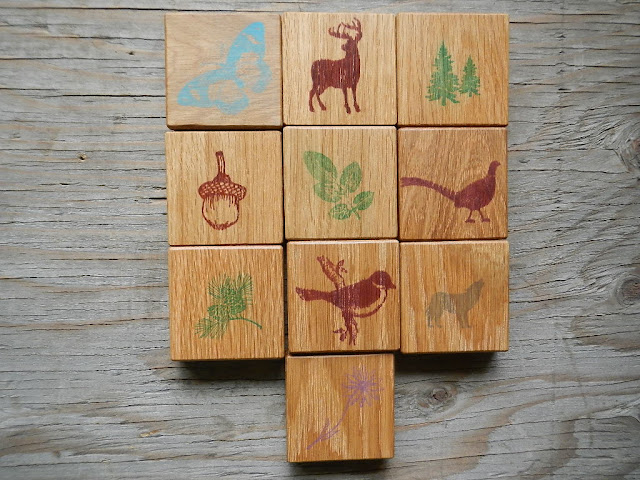handmade reclaimed wood childrens nature themed memory match game