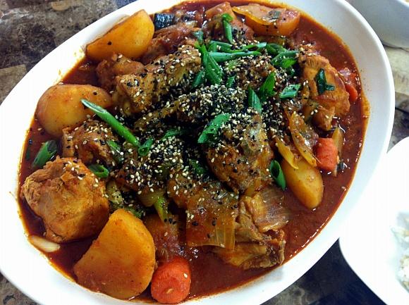 (Korean Spicy Chicken Stew / Korean Spicy Braised Chicken) Korean ...