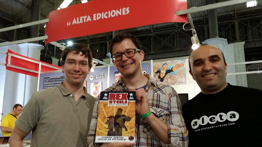 Bill Presing, Matt Peters y Joseba Basalo (Rex Steele, Nazi Smasher)