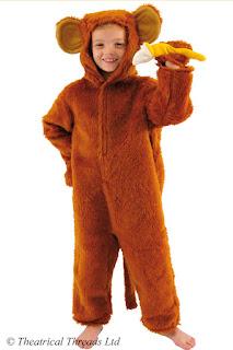 Monkey Full Length Fur Kids Costume from Theatrical Threads Ltd