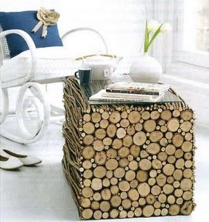 materiais naturais na decoração...