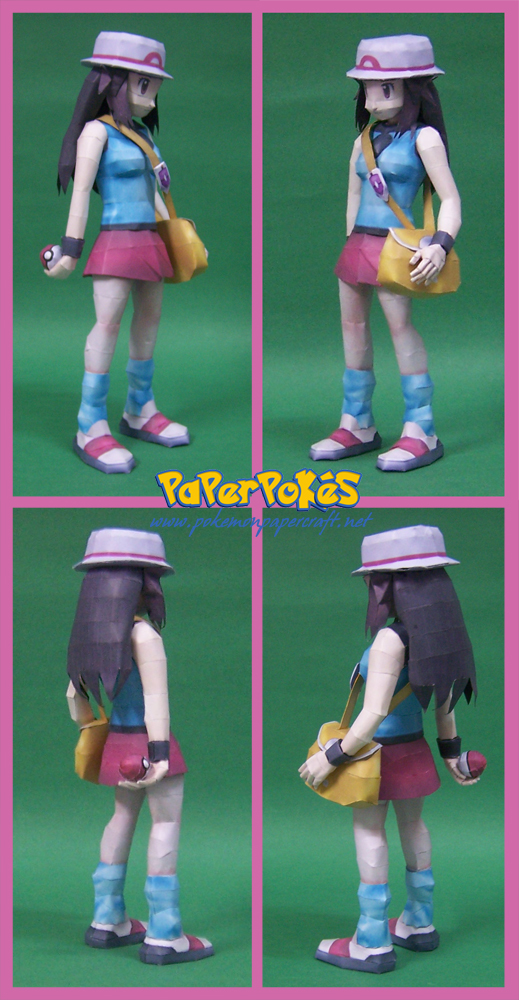 POkemon Trainer Leaf Papercraft