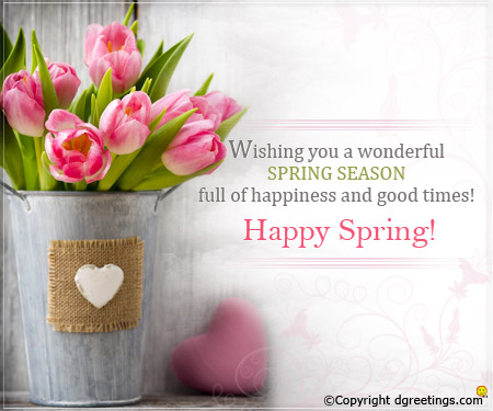 HAPPY SPRING EVERYONE :)