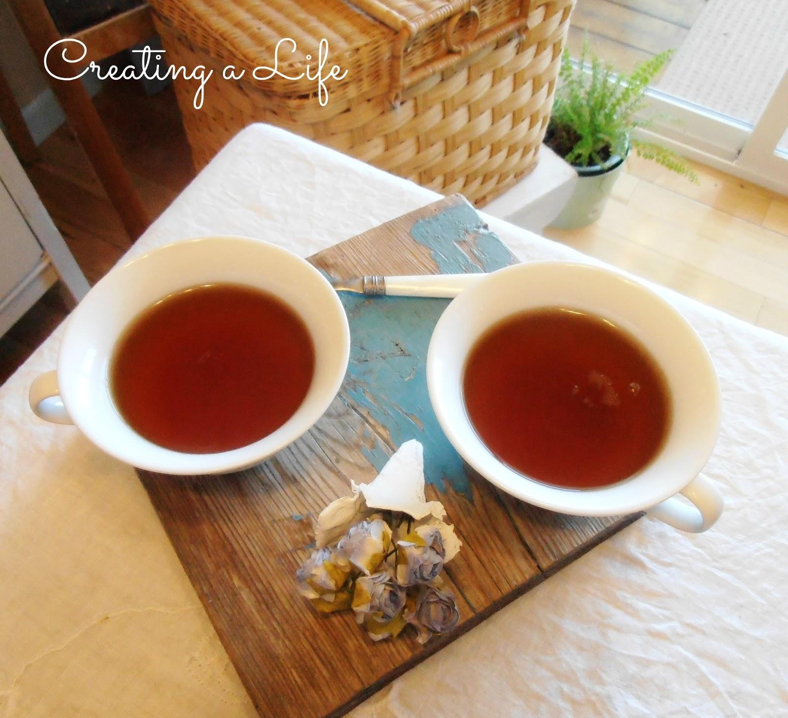 Simple simple pleasure tea pleasure