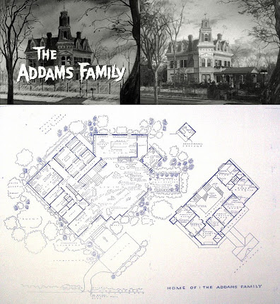 Paperwalker addams family house blueprints addams family house blueprints malvernweather Image collections