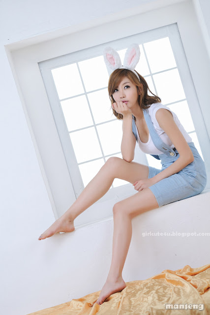 Choi-Byul-I-Denim-Overall-Skirt-11-very cute asian girl-girlcute4u.blogspot.com