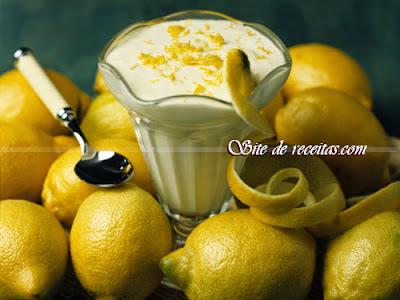 Flan de limão com coco
