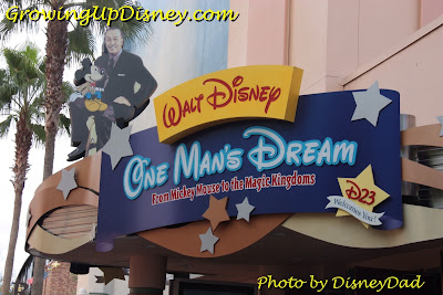 Walt Disney One Man's Dream signs Growing Up Disney