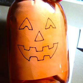Light-up Pumpkin mason jar