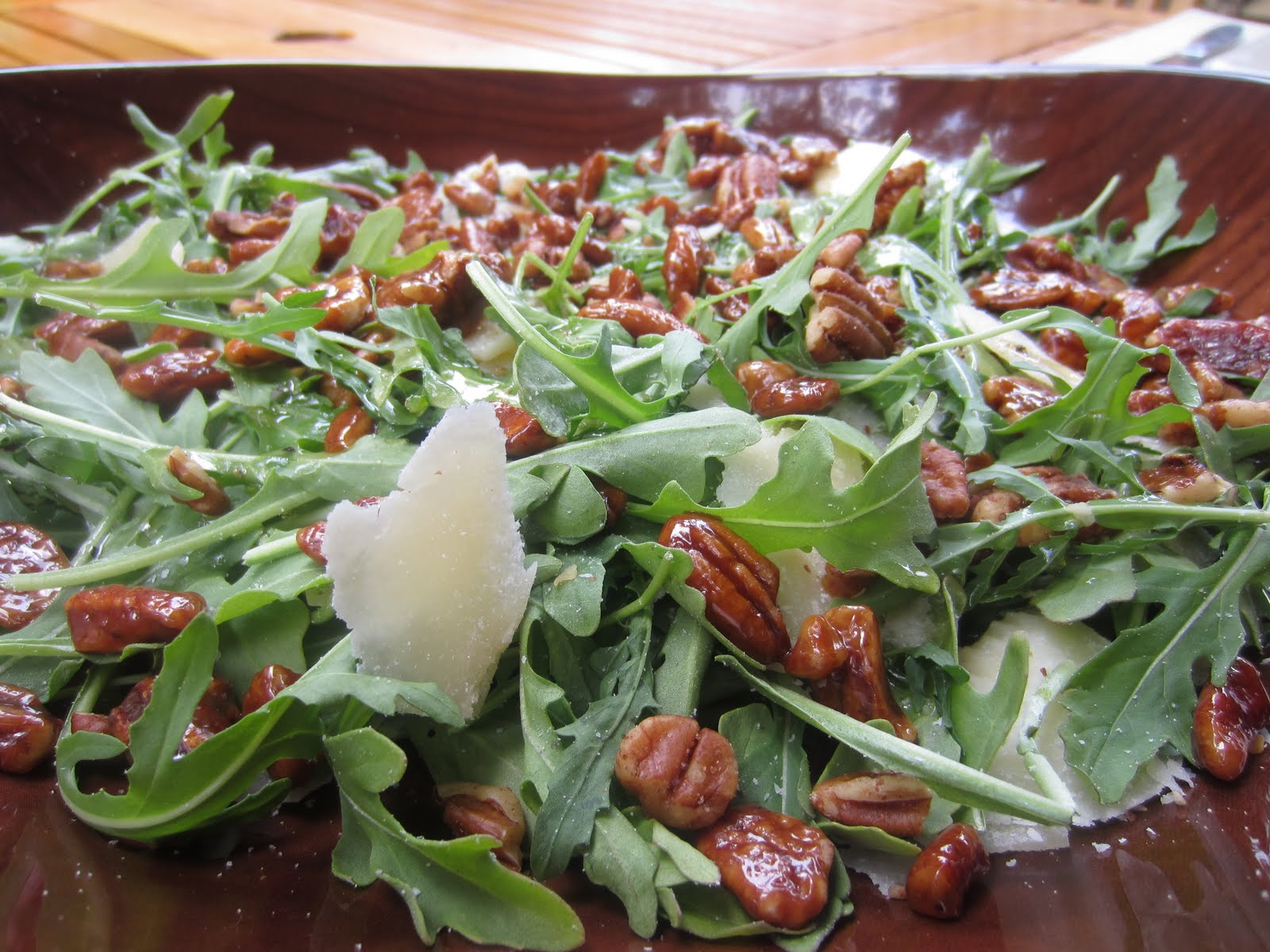 Luca: Glazed Pecans and Parmesan Arugula Salad