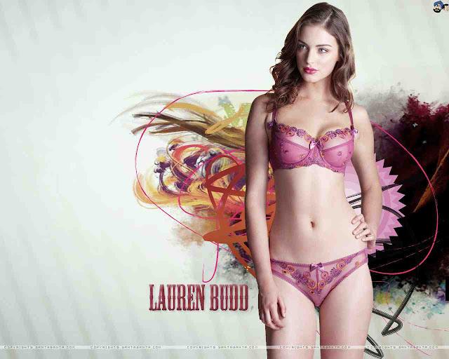 Lauren Budd sexy in lingerie