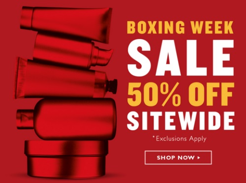 The Body Shop Boxing Week Sale 50% Off Sitewide + Free Gift