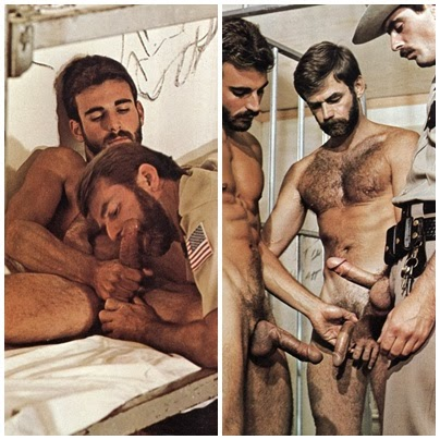 2 barbudos e bigodudo: sexo na prisão