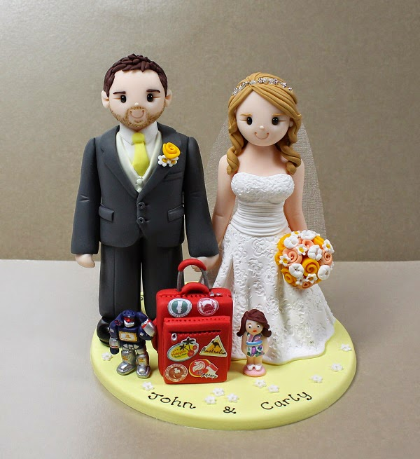 Polymer Clay Groom and Bride cake topper