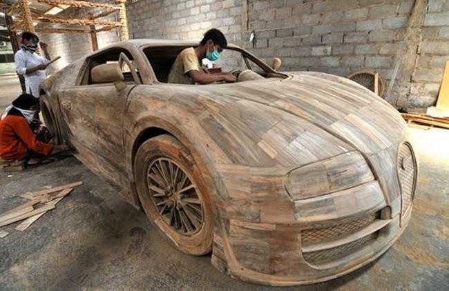 Bugatti Veyron bằng gỗ
