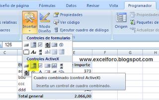 VBA: Asociar los elementos de un ComboBox a un campo de tabla dinámica en Excel.