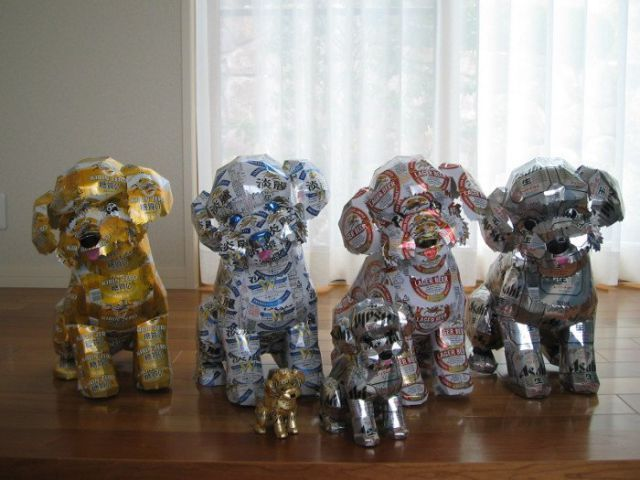 Beer Can Animal Sculptures Derpfudge