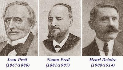 Los editores de La Stratégie: Jean Preti, Numa Preti y Henri Delaire