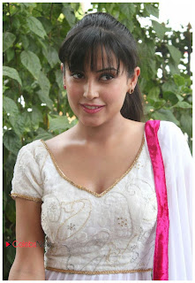 Disha Pandey Pictures in Salwar Kameez at Manathai Mayakkam Seithai Movie Launch  0019