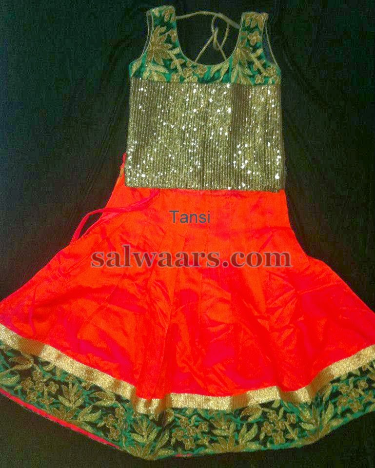 Mirchi Red Printed Skirt