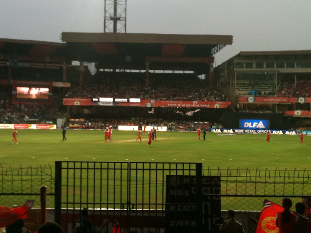 RCB vs DD at chinnaswamy stadium
