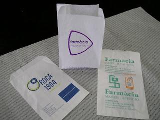 bolsas papel para farmacia impresa con su nombre