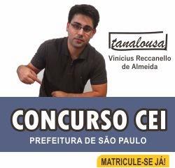 CURSO PREPARATÓRIO PARA O CONCURSO DE PROFESSORES DO MUNICÍPIO DE SÃO PAULO (CE