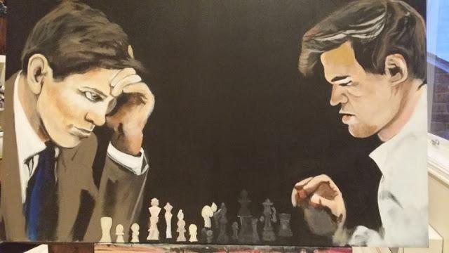 Norway Chess 2015. Cuadro de Magnus enfrentadose a Fischer