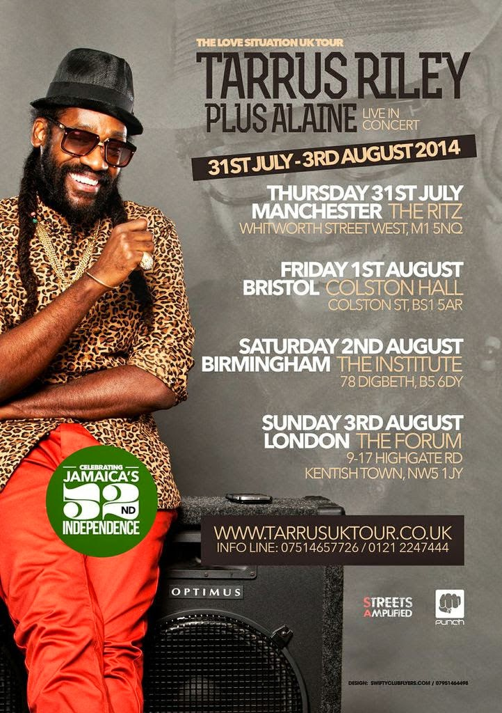 Reggae Tarrus Riley UK Dates