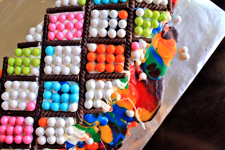 Argyle, Polka Dot, Melted Crayon abstract cake. #CakeMyDay #Sponsored