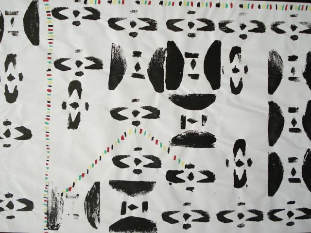 a faithful attempt west african adinkra printmaking