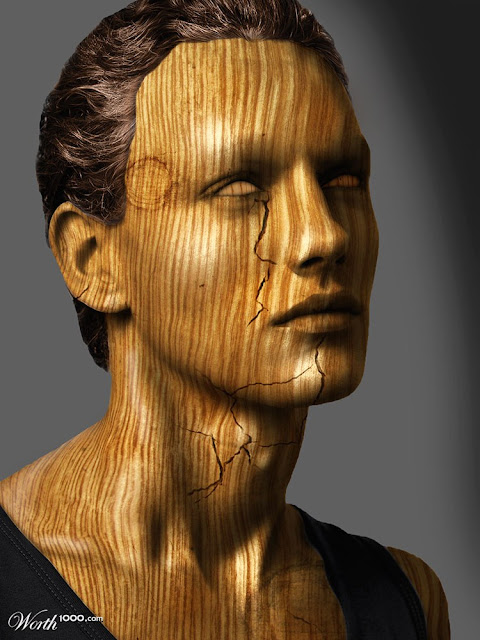 wood facial art