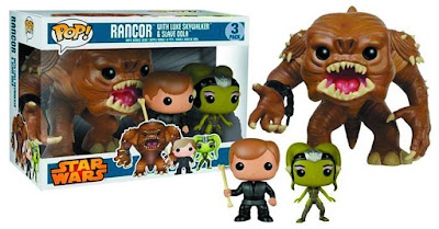 Star Wars Rancor Pit Pop! Box Set by Funko - Jedi Knight Luke Skywalker, Slave Oola & Rancor Pop! Vinyl Figures