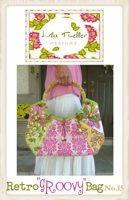 Enter to win this Retro Groovy Bag sewing pattern by Lila Tueller Designs